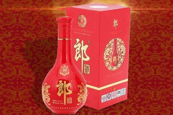 酱香型白酒郎酒53度 红花郎十年(10年)