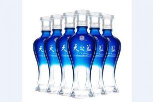 洋河蓝色经典天之蓝绵柔口感浓香型42度和52度白酒价格