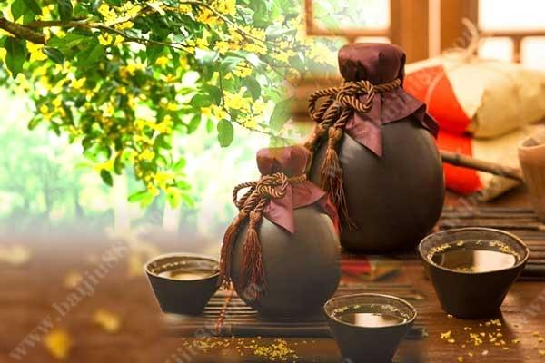 桂花酒的酿造方法