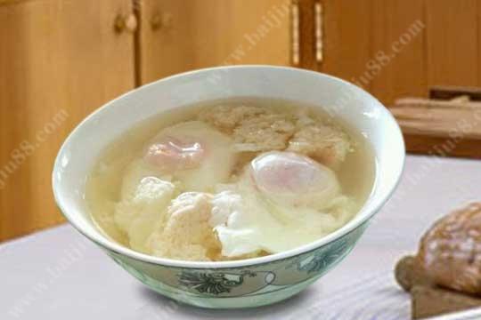 甜白酒煮鸡蛋的功效