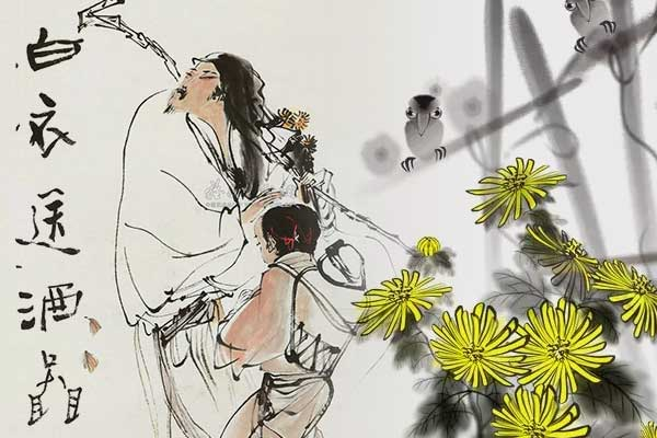 """重阳节的传说之""""白衣送酒"""""""